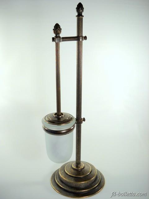 Accessori bagno porta scopino ottone brunito portascopini in stile impero wc18 ebay - Porta scopino bagno ...