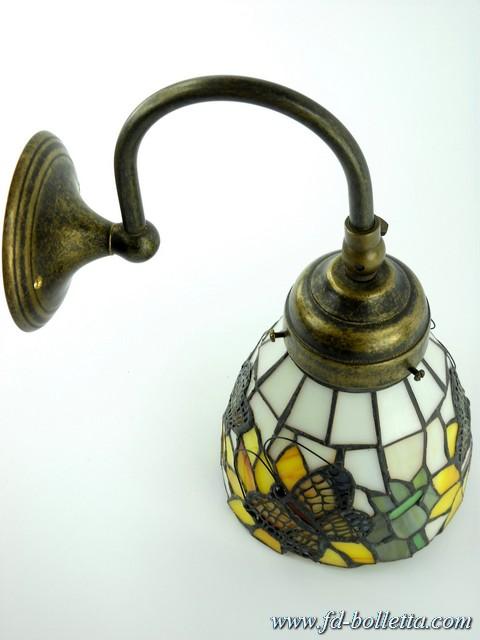 Applique ottone brunito appliques,lampada parete tiffany ...