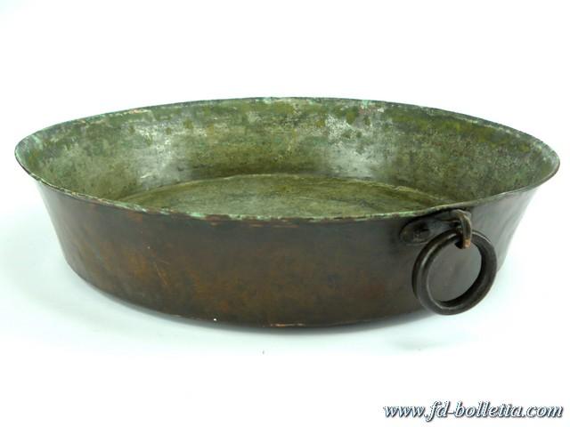 Pentola casseruola in rame antica tegame vecchio ciotola - Oggetti in rame per cucina ...