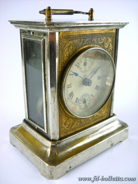 Sveglia antica cappuccina in metallo da tavolo antiche sveglie da viaggio a131 ebay - Orologi antichi da tavolo ...