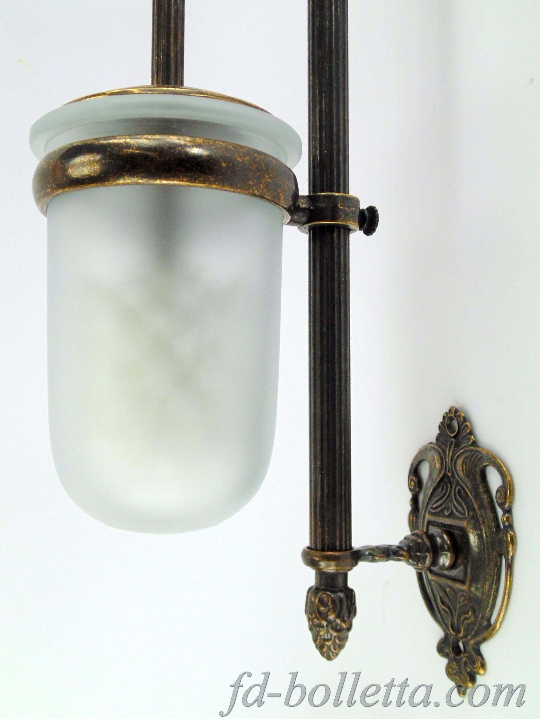 Portascopino ottone da muro wc31 fd bolletta lampade for Accessori bagno da muro