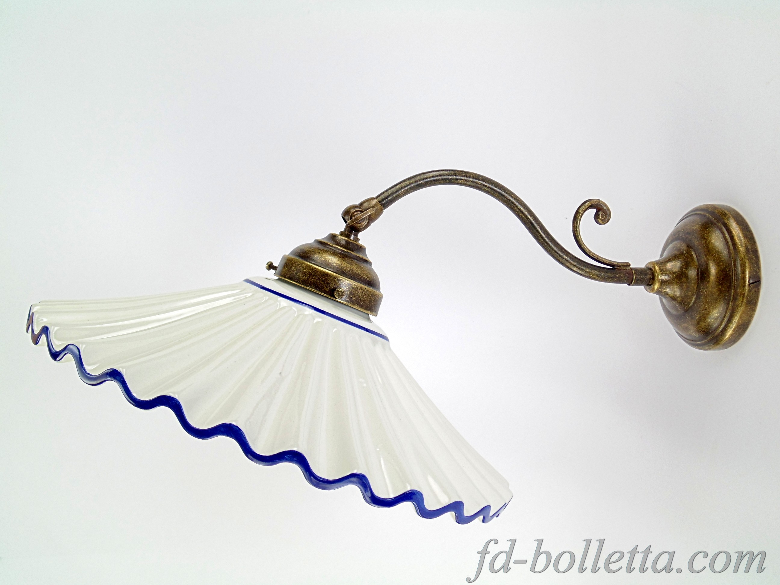 Applique ceramica am fd bolletta lampade