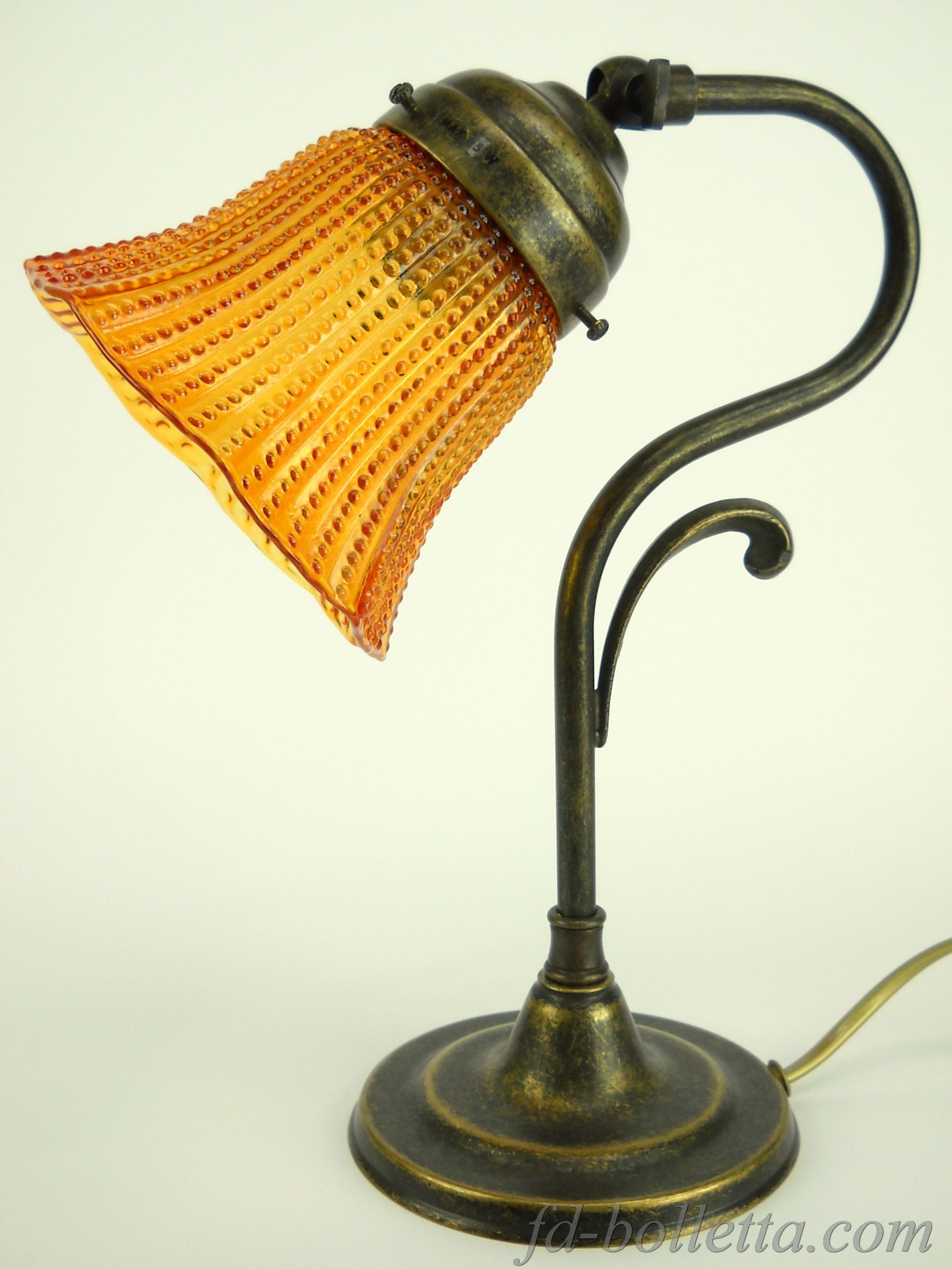 Lampada ottone da comodino lmi2 for Lampada comodino