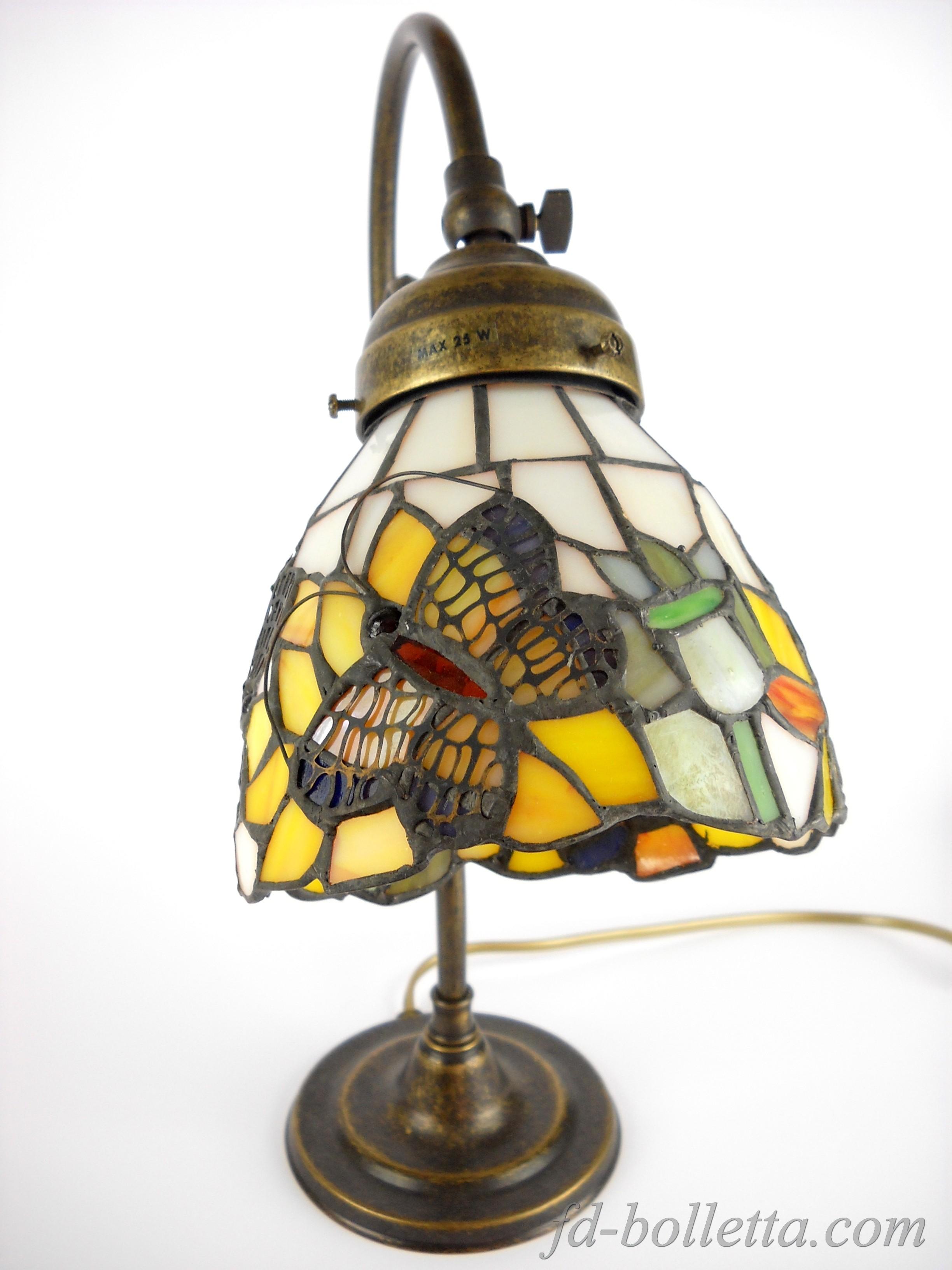 Lampada ottone brunito da tavolo scrivanie lampade liberty stile tiffany m20 ebay - Lampada da tavolo vintage ebay ...