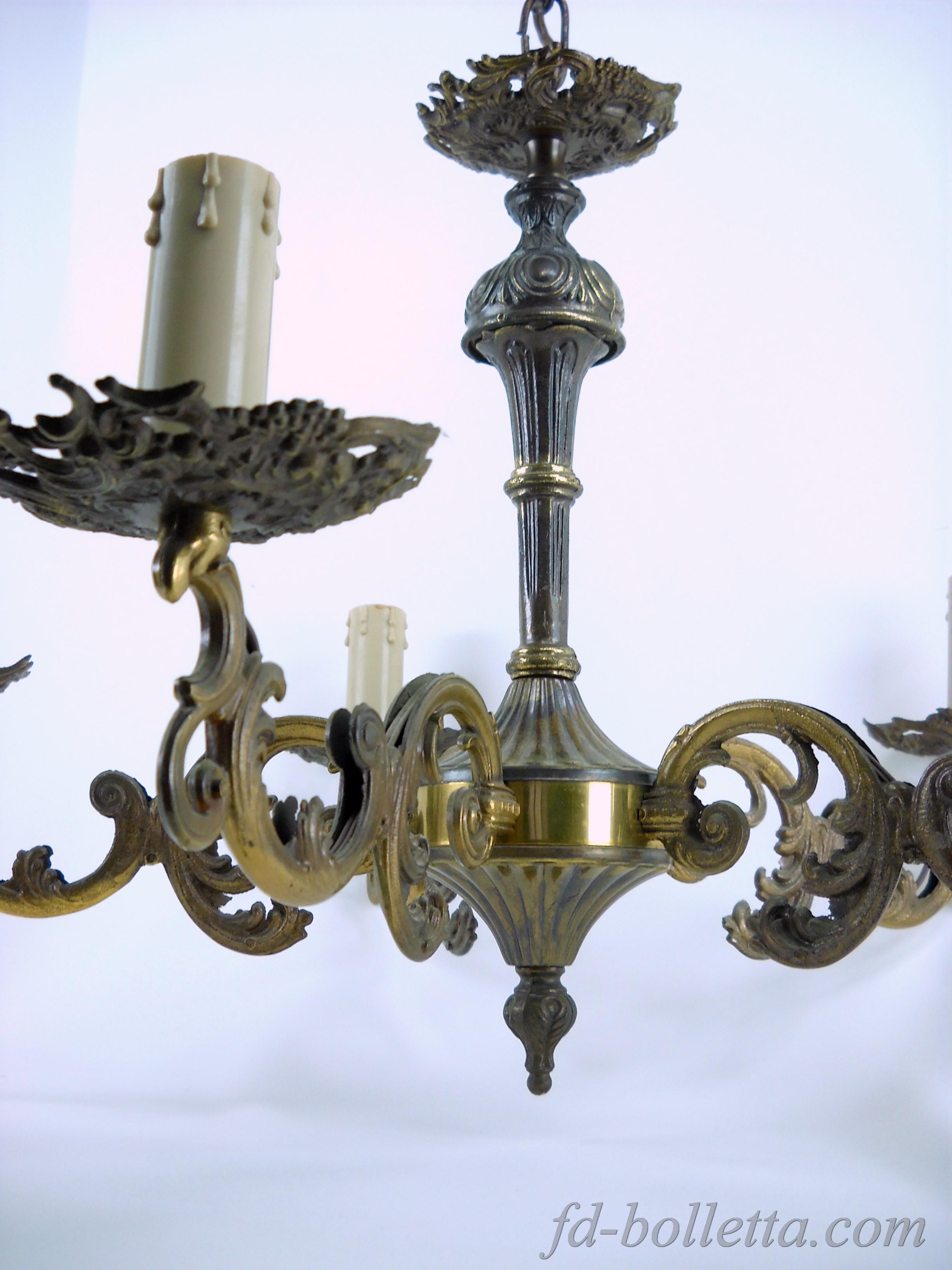 lampadari ottone : ... in ottone,lampadario vintage a 5 luci,vecchi lampadari a305 eBay