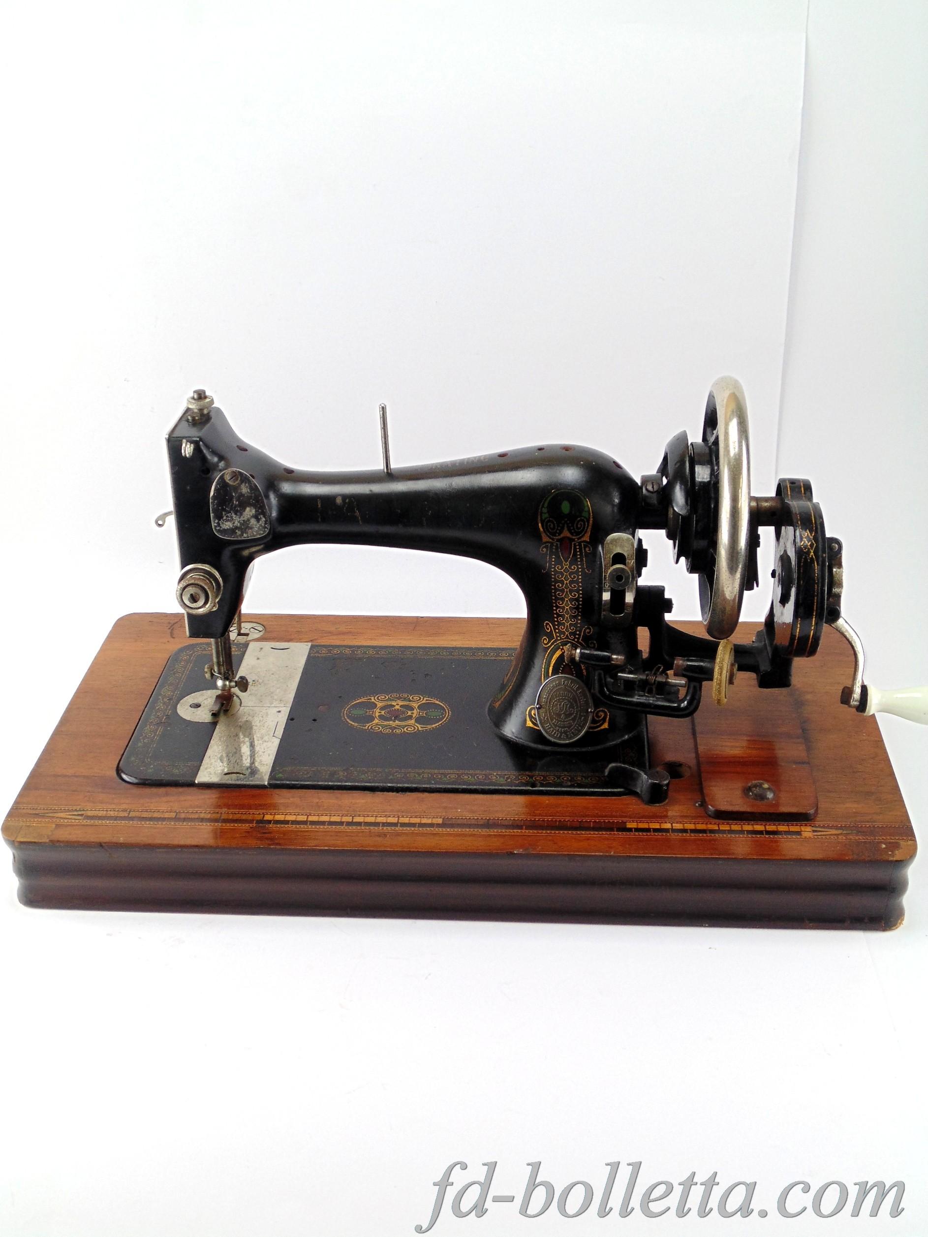 Antica macchina da cucire haid neu a643 fd bolletta for Macchina da cucire da tavolo