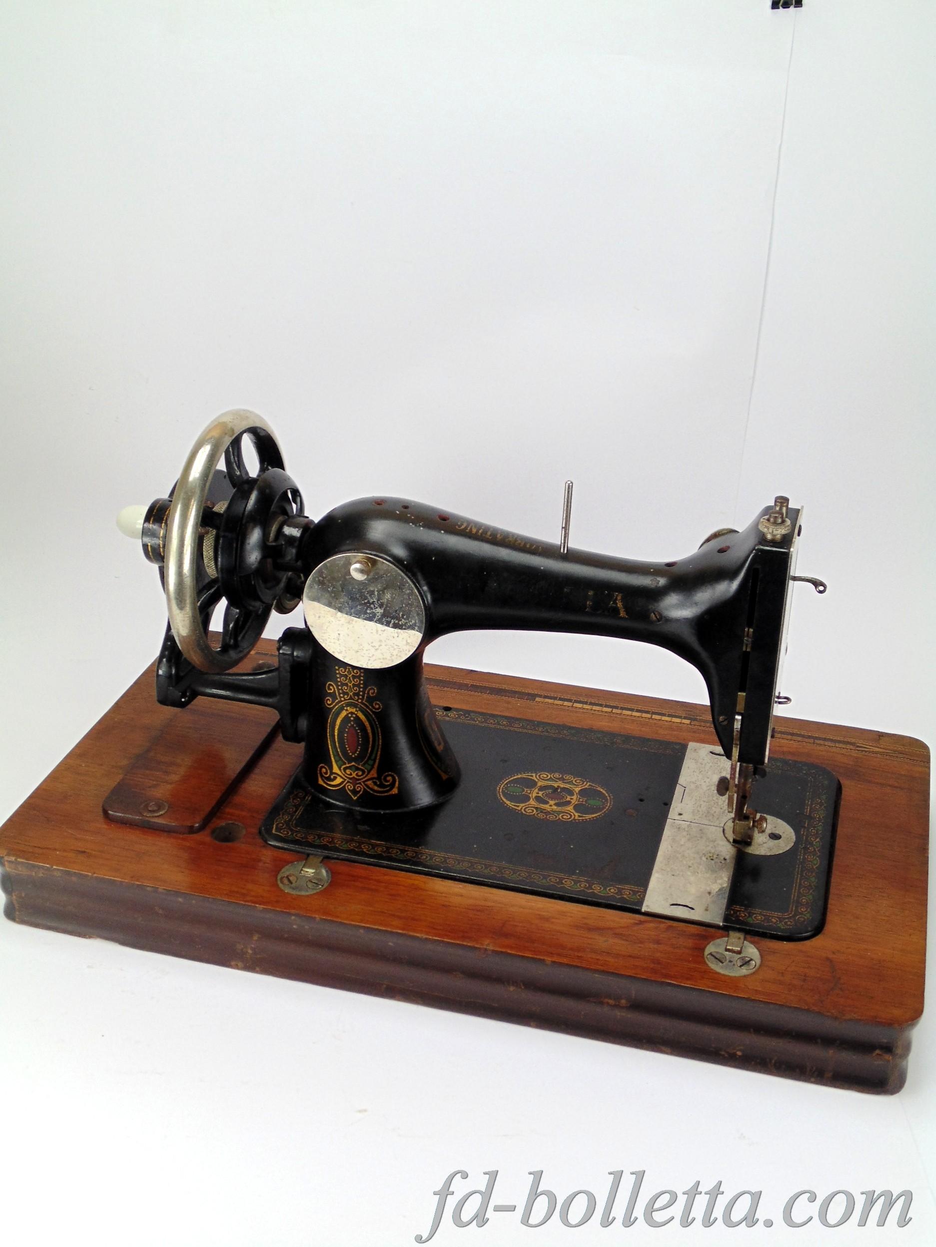 Antica macchina da cucire haid neu a643 fd bolletta lampade - Tavolo con macchina da cucire ...