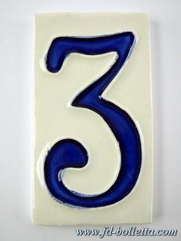 Numeri Civici In Ceramica.Numero Civico Ceramica Piccolo Nc403 Fd Bolletta Lampade