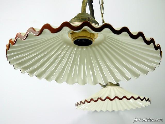 Piatti In Ceramica Per Lampadari.Lampadario 2 Luci Ceramica L2r2010 Fd Bolletta Lampade